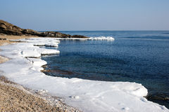 Ice Floe, Icy shore of the sea. Royalty Free Stock Photos