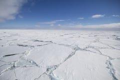 Cracked ice floe. Ice floe with large cracks Stock Photography
