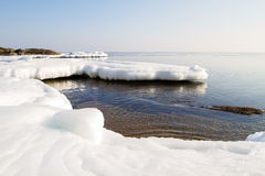 Ice floe in the ocean. Stock Images