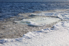 Ice floe on the river Stock Photography