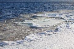 Ice floe on the river. An ice floe on the river Stock Photography