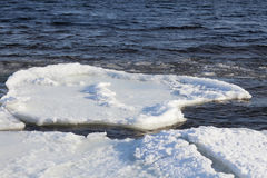 Ice floe on the river Stock Image