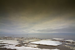 Ice floe in the sea. Royalty Free Stock Image