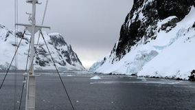 Ice floe view from the ship in ocean of Antarctica. stock footage