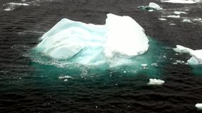 Ice floe view from the ship in ocean of Antarctica. stock video footage