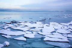 Ice floe in winter Norway Stock Photography