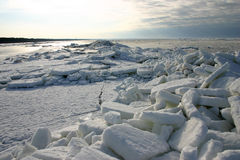 Ice floes. Heaps of ice floes on the Baltic sea Stock Photography