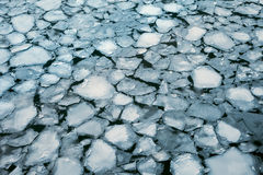 Ice floes background of winter river. Royalty Free Stock Photos