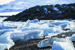 Ice floes at glacier lagoon Jokulsarlon Royalty Free Stock Images