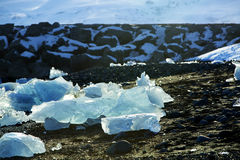 Ice floes at glacier lagoon Jokulsarlon in Iceland Royalty Free Stock Photography