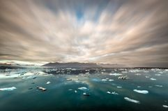 Ice floes and icebergs at Jokulsarlon royalty free stock image