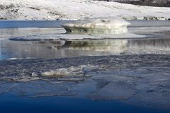 Ice floes in lake Royalty Free Stock Photography