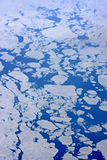 Ice Floes. Looking down on ice floes in the sea Royalty Free Stock Photo
