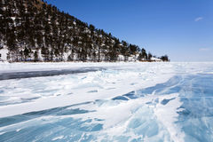 Ice floes. Near the coast Stock Photos