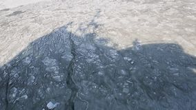 Frozen sea wit ice floes