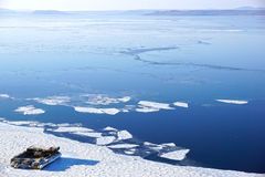 Ice floes in the sea Royalty Free Stock Photo