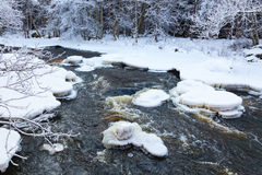 Ice floes in the stream Stock Images
