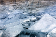 Ice floes. Under thick ice Royalty Free Stock Photography
