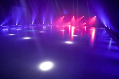 Ice floor with stage lights for ice dancing Stock Image