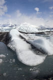 Ice Flow at Alaskan Glacier Stock Photography