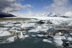 Ice Flow at Alaskan Glacier. An ice flow from an Alaskan glacier Royalty Free Stock Photography