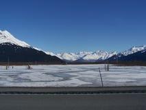 Ice Flow along Seward Highway Stock Images