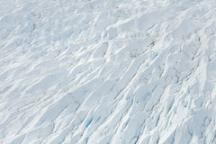 Ice flow crevasse Royalty Free Stock Images