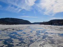 Ice Flow in the Delaware Royalty Free Stock Photography