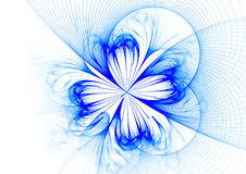 Ice flower. Over white: rendered abstract fractal royalty free illustration