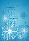 Ice flower. Blue illustration background Royalty Free Stock Images