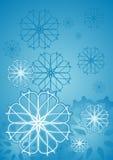 Ice flower. Blue illustration background royalty free illustration