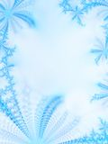 Ice-flowers. Abstract ice-flowers on a windowpane Royalty Free Stock Photo