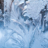 Ice flowers on glass - texture Stock Photography