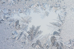 Ice flowers on glass - texture Stock Image