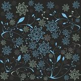 Ice Flowers and Leafs. Vector illustration of stylized ice flowers and leafs Stock Photography