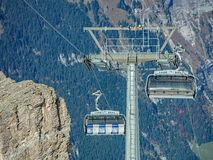 Ice Flyer cable car Stock Photography