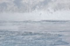 Ice fog Lake Ontario Royalty Free Stock Photography