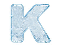 Ice font Royalty Free Stock Photos