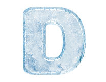 Ice font Stock Image