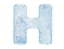 Ice font Stock Photo