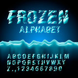Ice font collection Stock Images