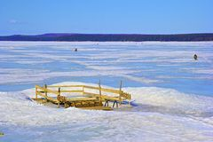 Ice font on the lake in Russia Stock Photos