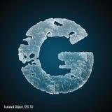 Ice Font of Letter G stock illustration