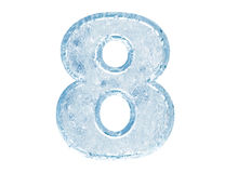 Ice font. Number eight Royalty Free Stock Images