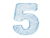 Ice font. Number five Royalty Free Stock Image