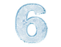 Ice font. Number six Royalty Free Stock Photography