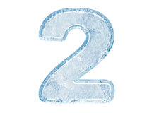 Ice font. Number two Royalty Free Stock Image