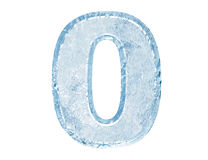 Ice font. Number zero Stock Photo