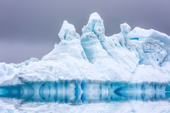 Ice Formation in Antarctica. Just beyond the Gerlache Straits is. Where this Ice Garden exists stock images