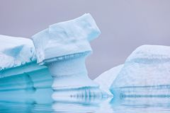 Ice Formation in Antarctica. Just beyond the Gerlache Straits is. Where this Ice Garden exists stock image
